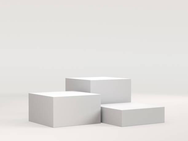 White podium for display stock photo
