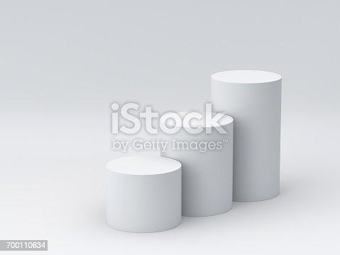 istock White podium step on white background for display. 3D rendering. 700110634