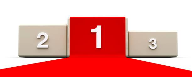 weiße podium mit rotem teppich #2 - sockelleisten ecken stock-fotos und bilder