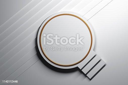 istock White podium with stairs 1140112446
