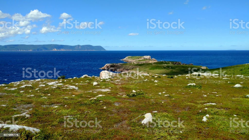 White Point in the Cape Breton Highlands stock photo