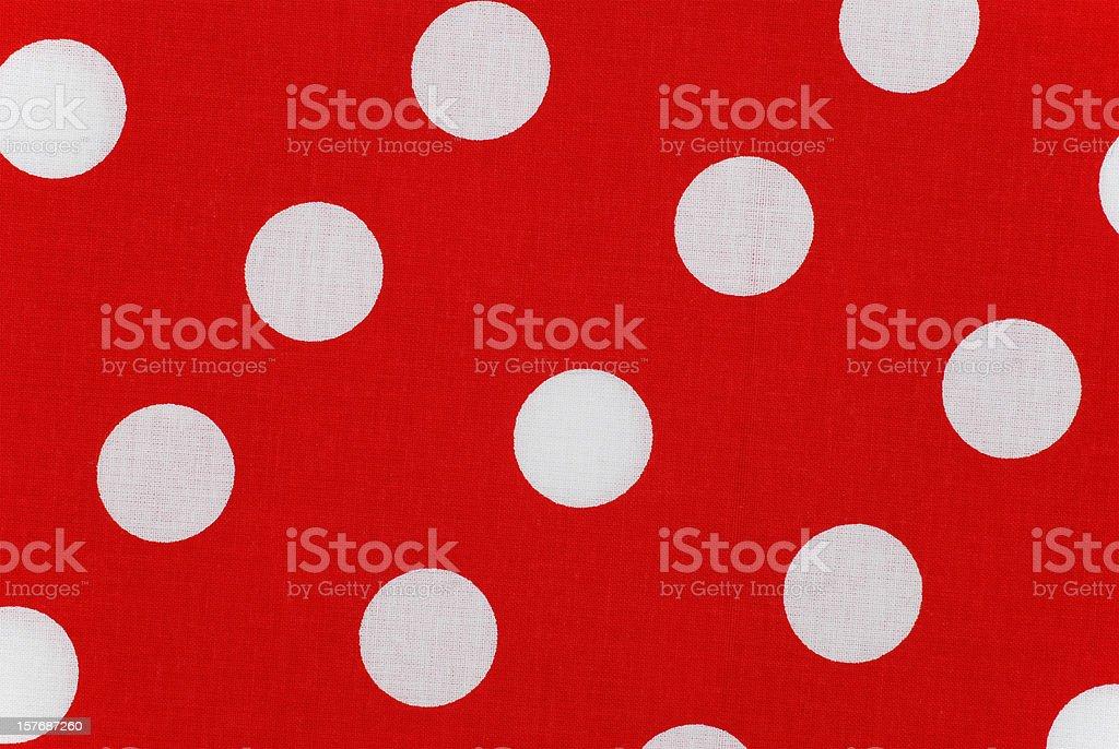 Bianco Con Pois Sul Tessuto Rosso Fotografie Stock E Altre