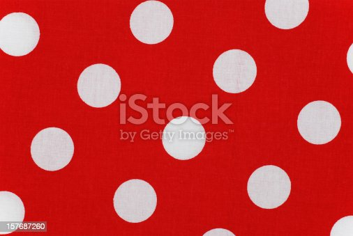 184875559istockphoto white polka dots on red fabric 157687260
