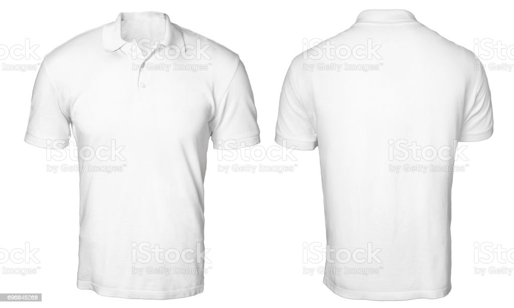 White Polo Shirt Mock up stock photo