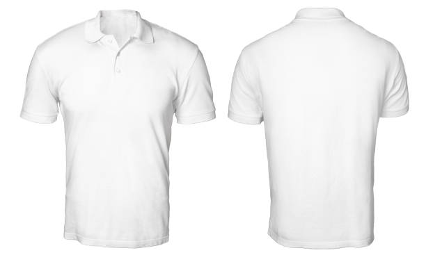white polo shirt mock up - sports uniform stock photos and pictures