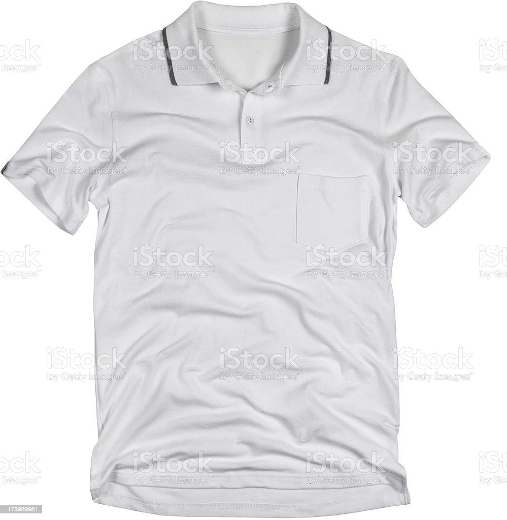 Blanco camisa de Polo - foto de stock
