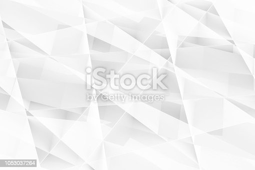 istock White polygonal pattern. Abstract 3d 1053037264