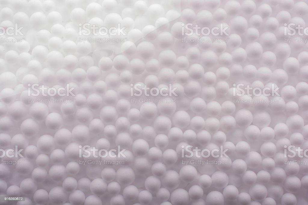 White polystyrene foam balls as background stock photo
