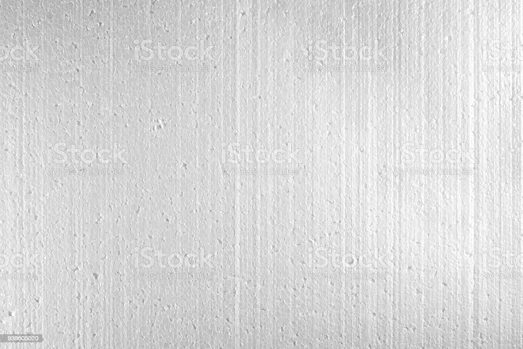 white Polystyrene foam, Styrofoam texture Close up stock photo