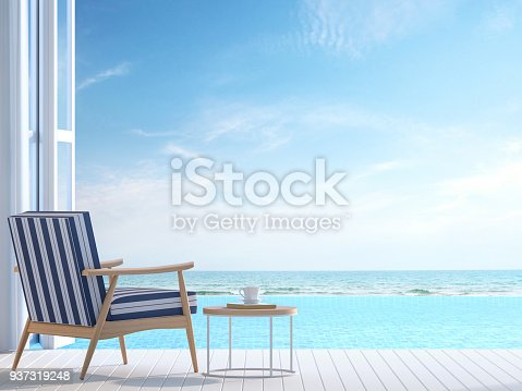 istock White pool villa terrace 3d render 937319248