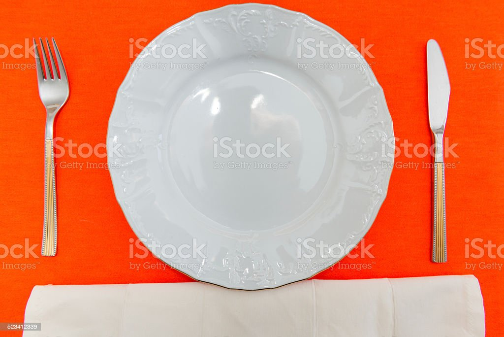 white porcelain and dishware stock photo