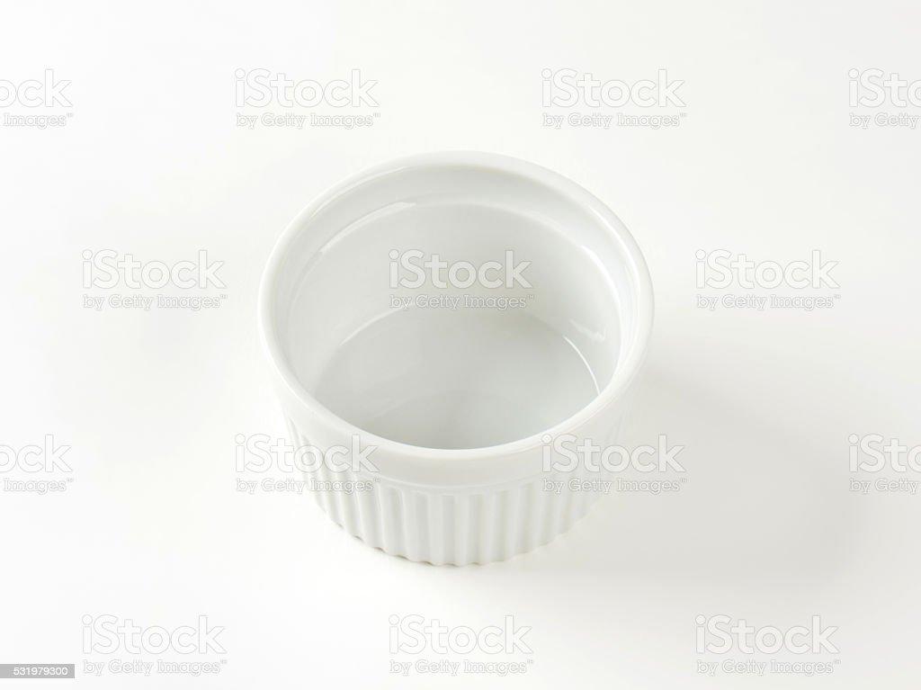 white porcelain ramekin stock photo