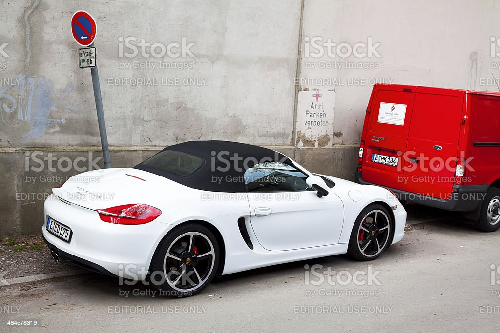 White Porsche Boxster Convertible Car Stock Photo Download Image Now Istock