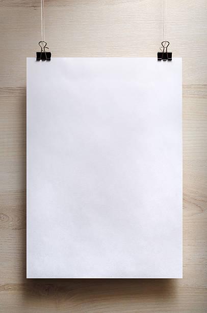 weiße poster - klapprahmen stock-fotos und bilder