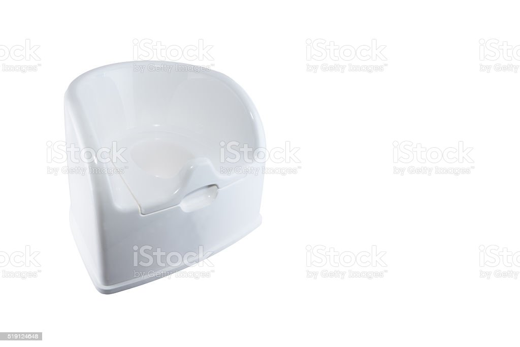 White potty cut out on white background. royalty-free stock photo