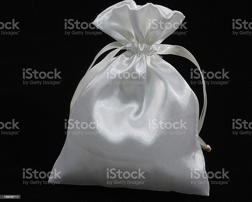 White Pouch.jpg royalty-free stock photo