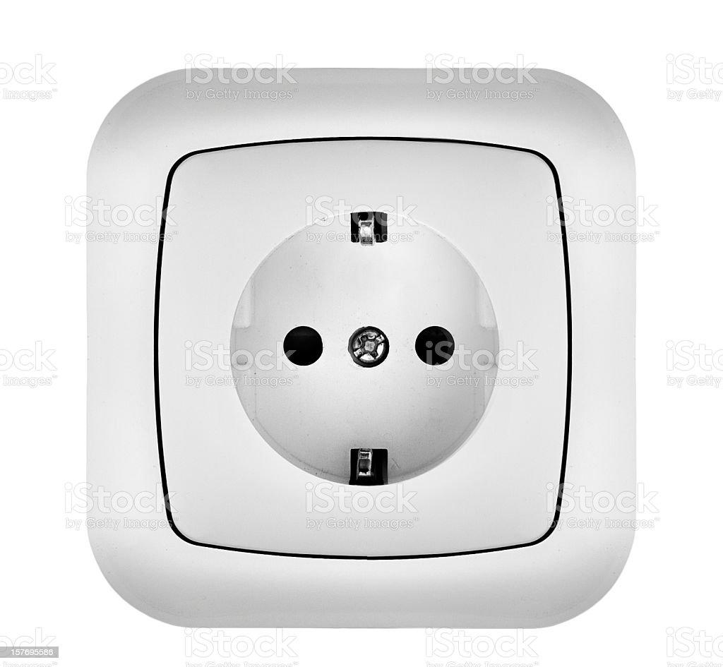 White Power Outlet royalty-free stock photo