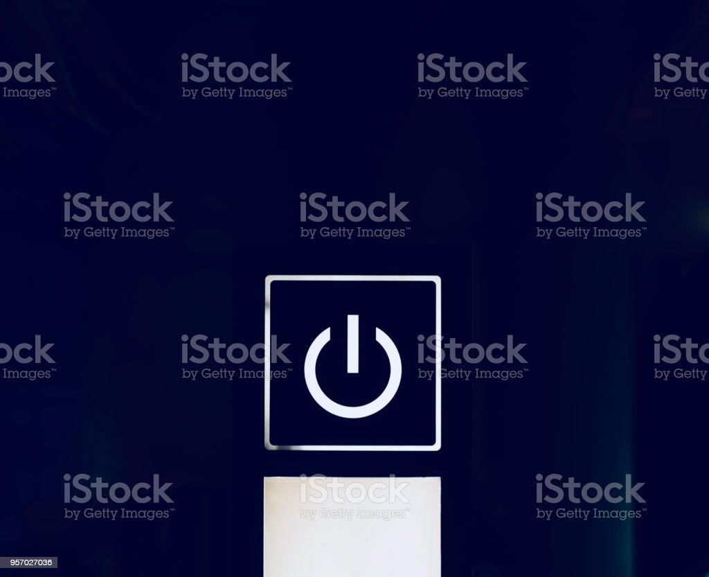 White power symbol isolated unique photo stock photo