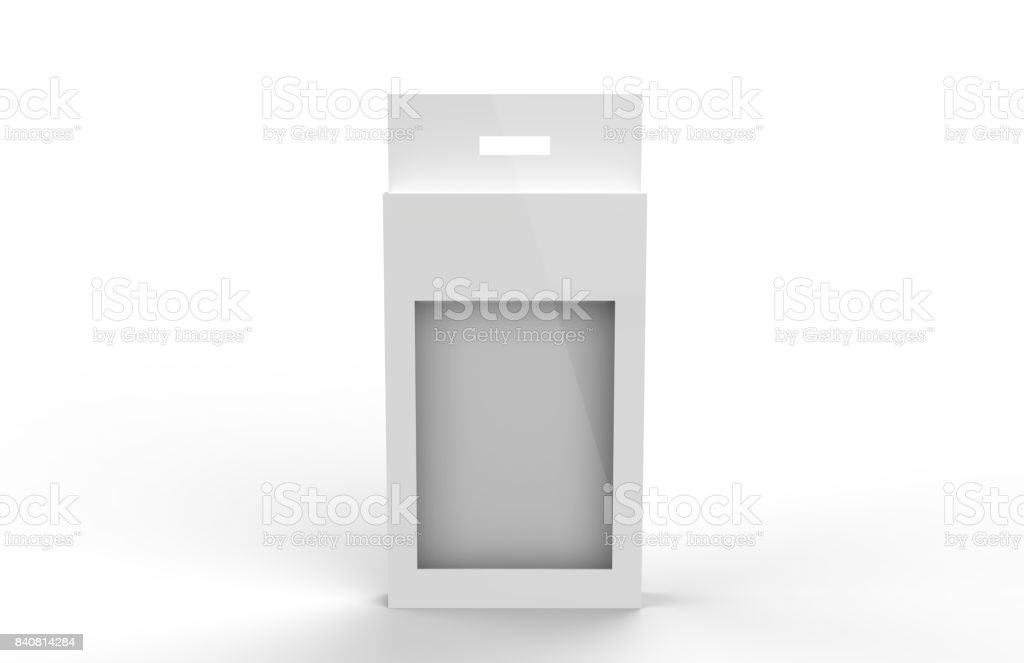 White Product Package Box With Window stock photo