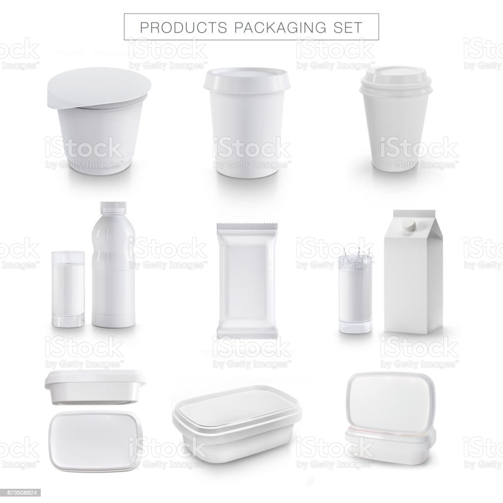 White product packaging stock photo