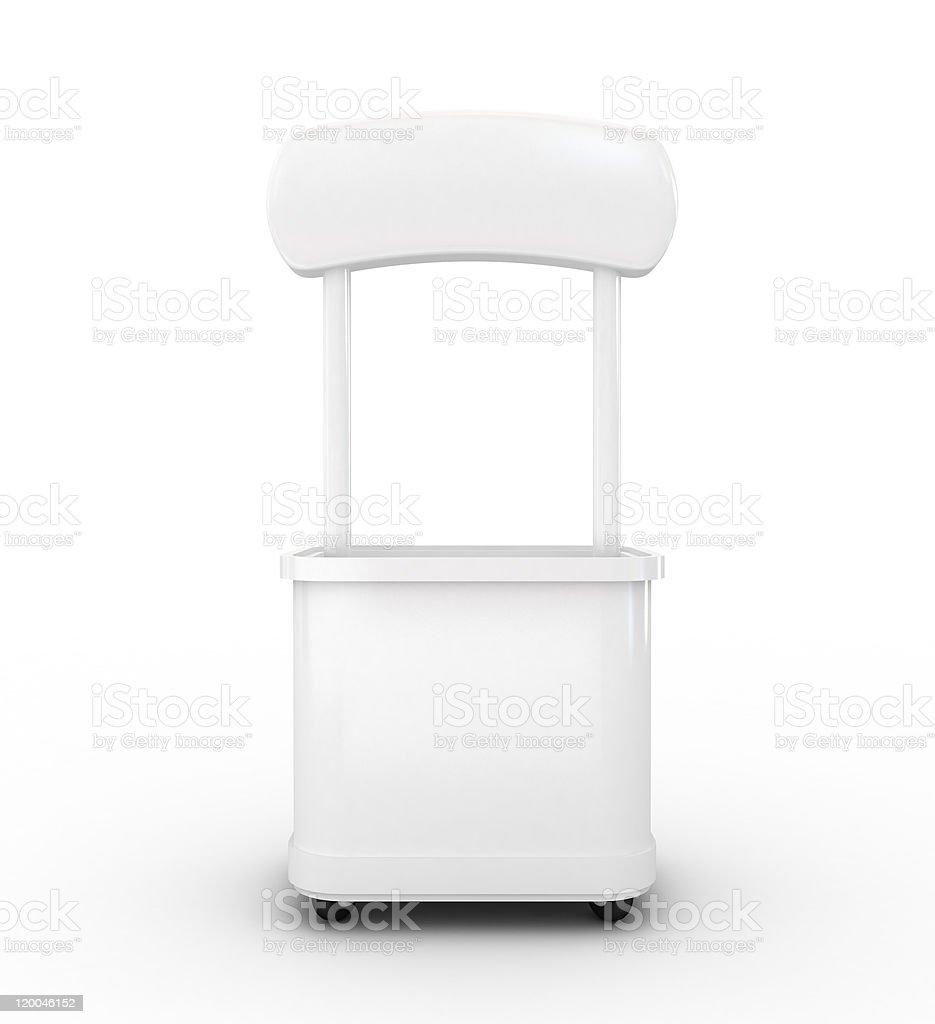 white promotion counter royalty-free stock photo