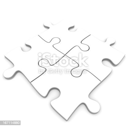 Photo Of White Puzzles On White Background.