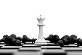 istock White queen and black pawns lying around 1281585038