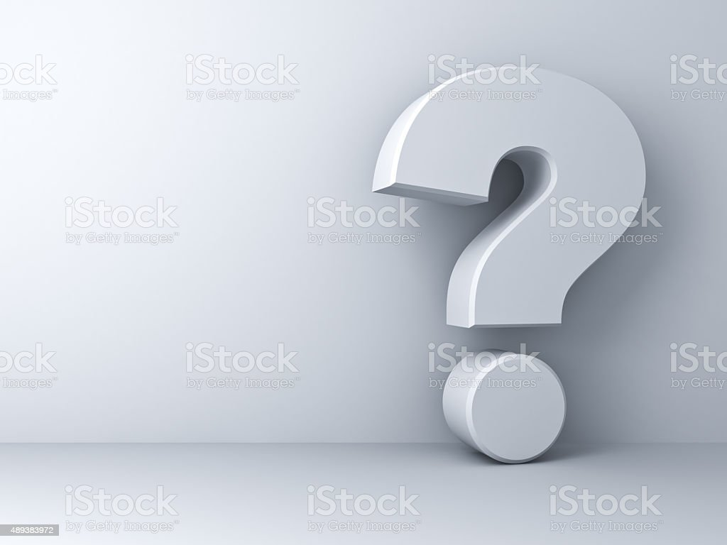 White question mark stock photo