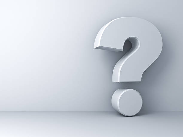 White question mark stock photo