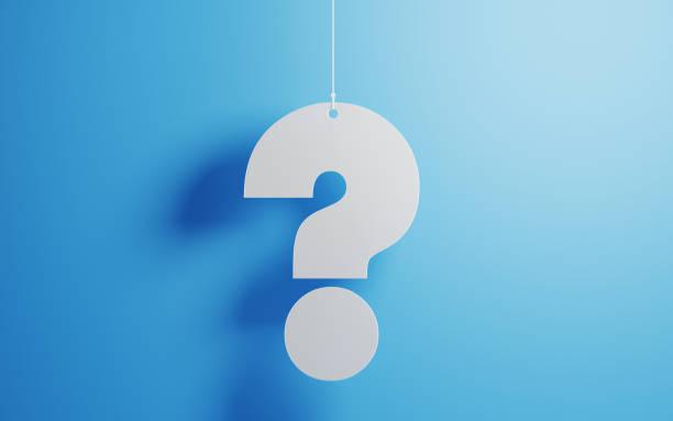 Weiße Fragezeichen mit blauem Hintergrund – Foto