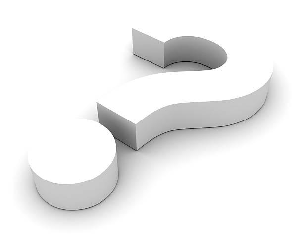 White Question Symbol stock photo