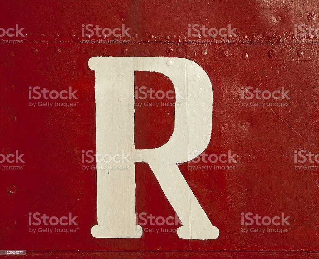 White R On Ship stock photo