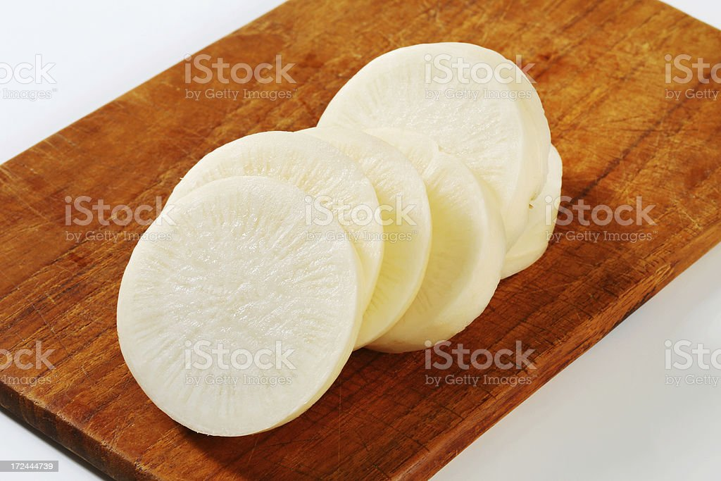 white radish slices royalty-free stock photo