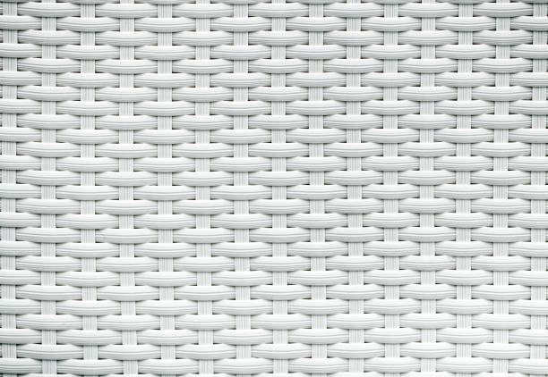 White rattan background White artificial rattan pattern. Background of basket structure close-up. Furniture backdrop wicker stock pictures, royalty-free photos & images