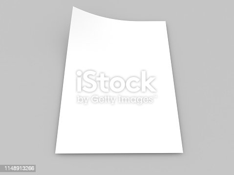 1139340462 istock photo White realistic sheet of paper on a gray background. 1148913266