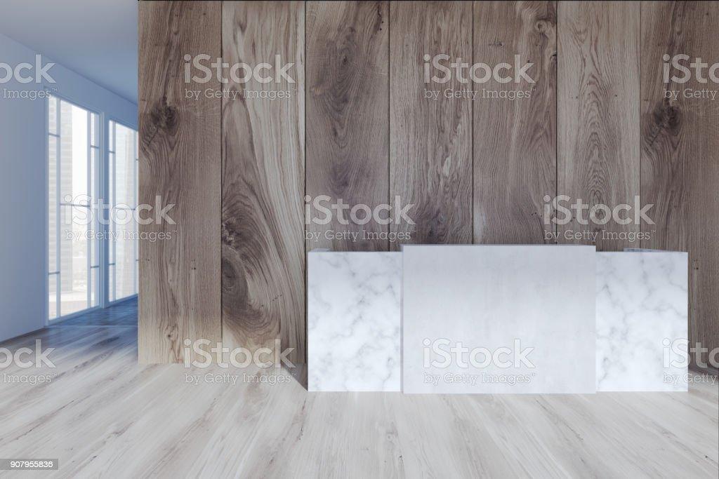 Réception de blanc dans un bureau moderne bois u photos et plus d