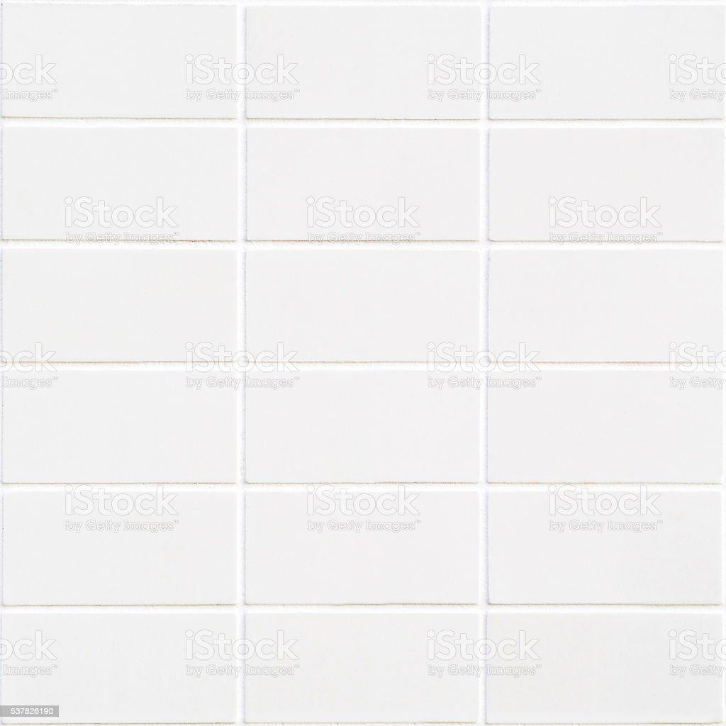 Mosaico retangular branco com estrutura horizontal - foto de acervo