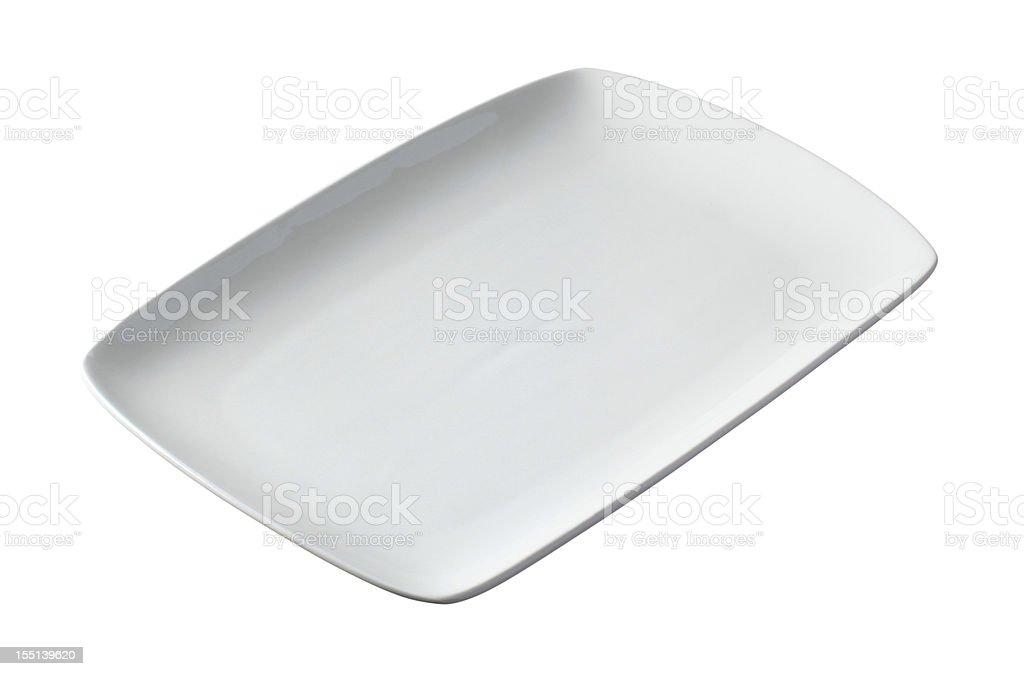 White rectangular plate stock photo