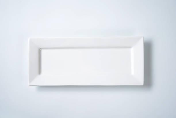 Blanc plaque rectangulaire - Photo
