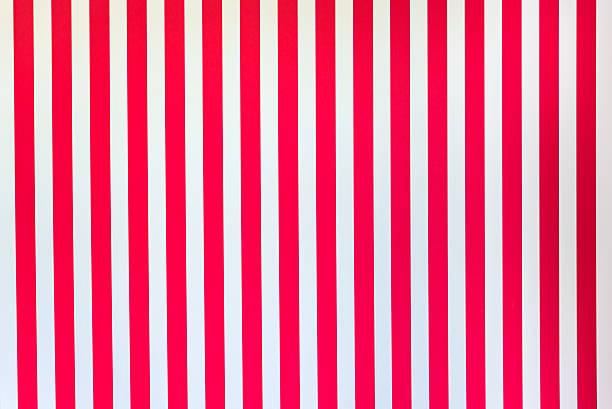 White Red stripes stock photo