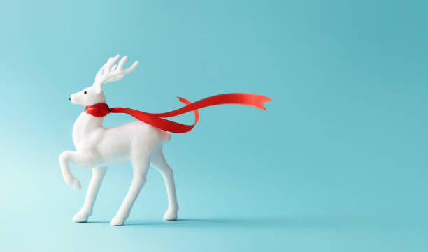 White reindeer with red scarf on pastel blue background picture id1036616174?b=1&k=6&m=1036616174&s=612x612&w=0&h=rkh9updjr7d 1adxhy7lbzku1qm6v hcvyrqtopm qs=