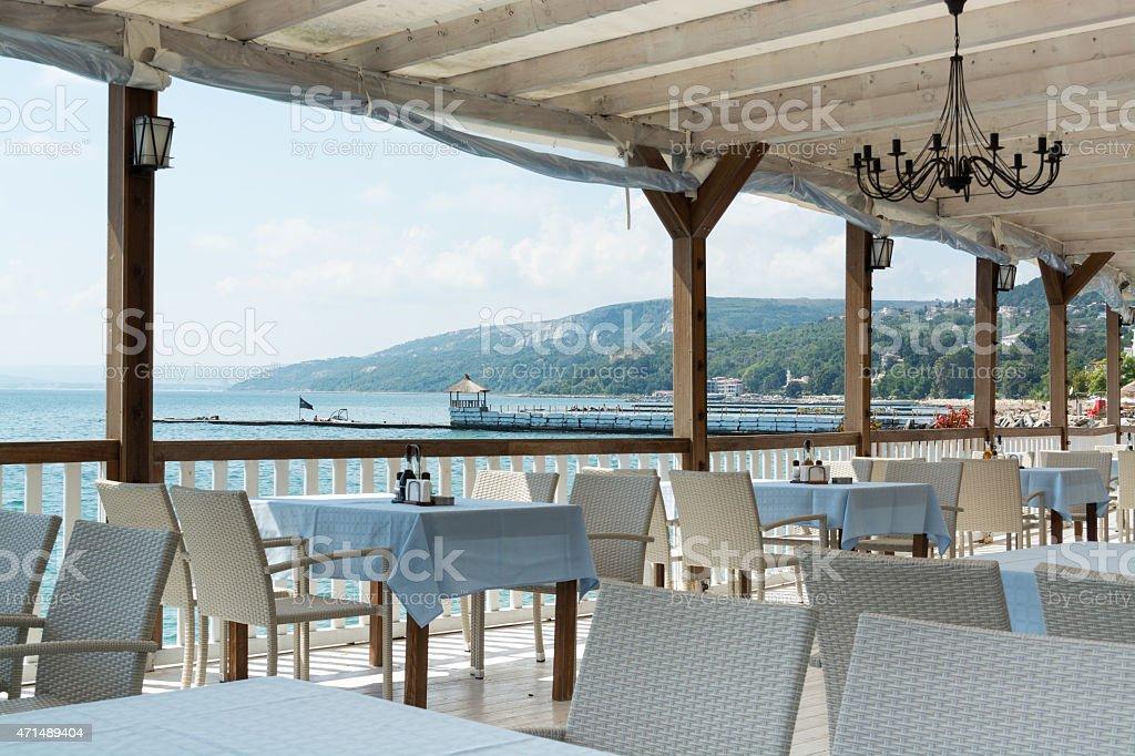Mar Sedie E Tavoli.Ristorante White Tavoli E Sedie Costa Del Mar Nero Balchik