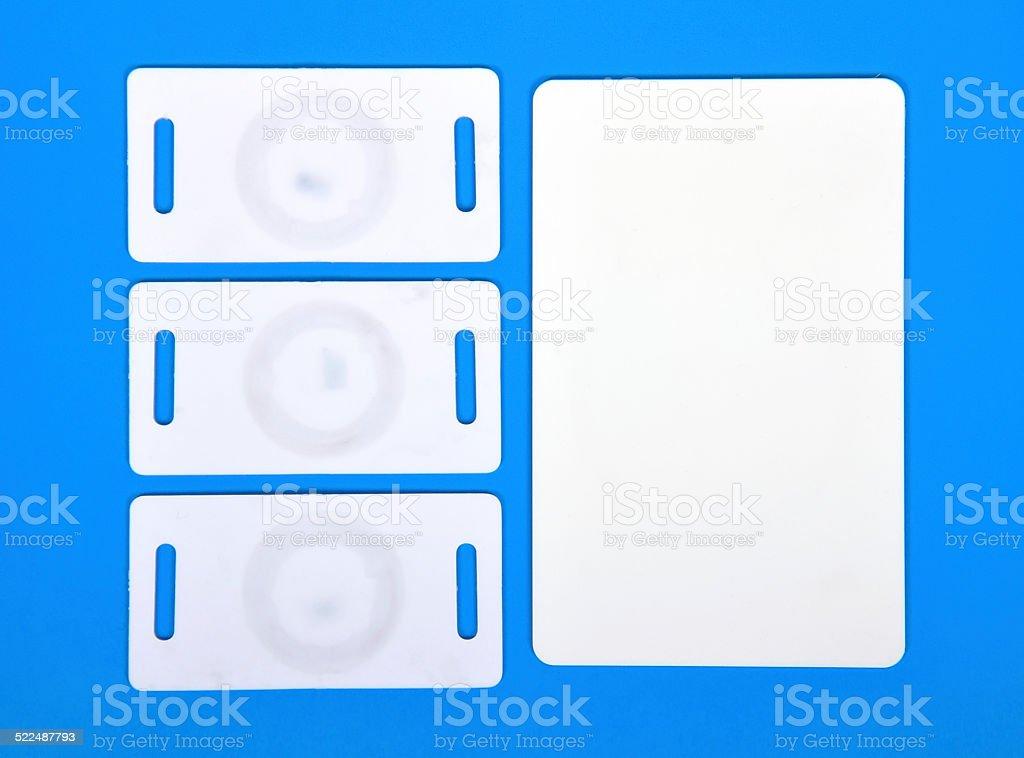 white RFID cards stock photo