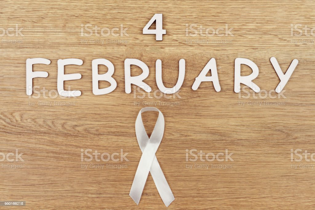 White Ribbon Lung Cancer Stock Photo More Pictures Of Alertness