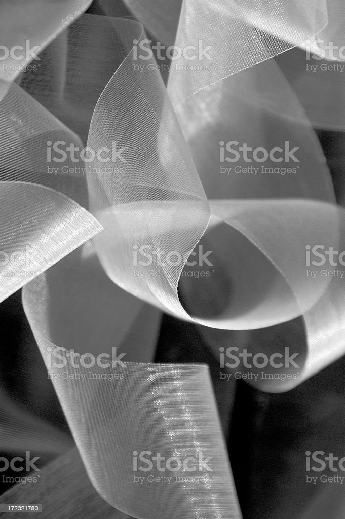 White Ribbons Desaturated royalty-free stock photo