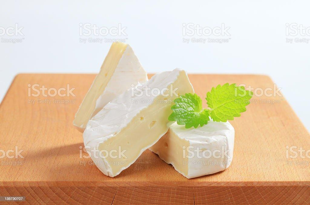 White rind cheese royalty-free stock photo