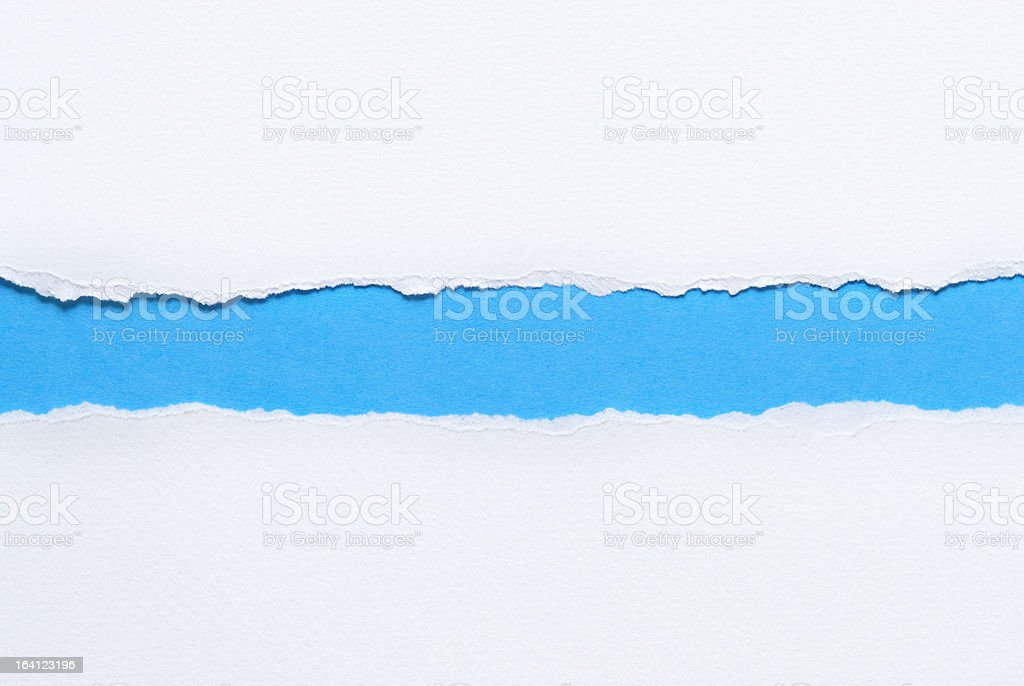 White ripped paper stock photo
