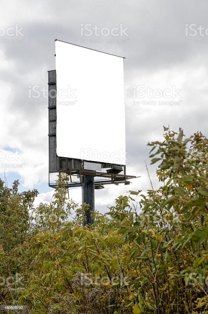 Weiße road Werbung Schild – Foto