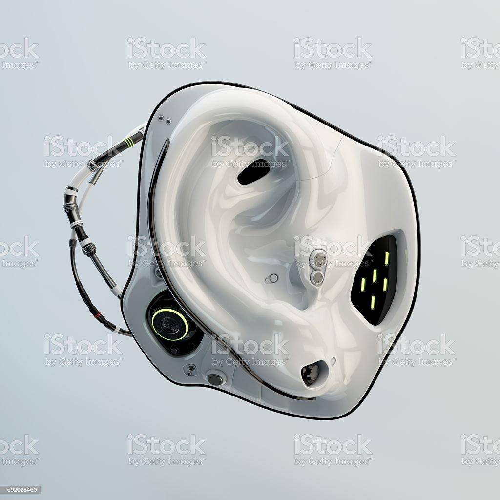 White robotic ear foto de stock libre de derechos