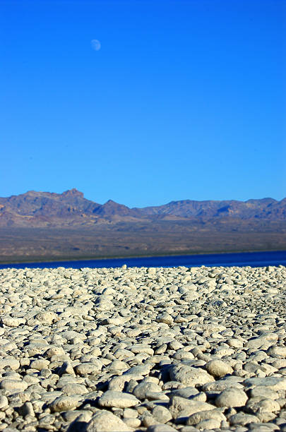 White Rocks, Lake Mohave Shoreline, Nevada, Searchlight, USA stock photo